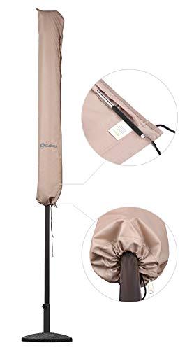 Sekey® Schutzhülle für Ø 300 cm Sonnenschirm, Abdeckhauben für Sonnenschirm,100% Polyester, Taupe - 5