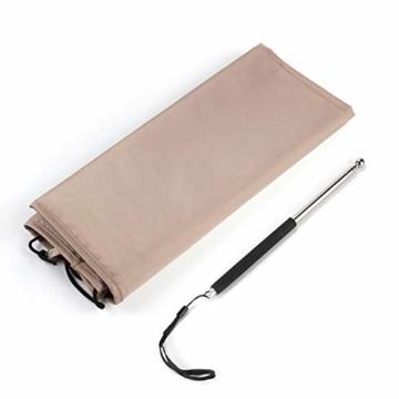Sekey® Schutzhülle für Ø 300 cm Sonnenschirm, Abdeckhauben für Sonnenschirm,100% Polyester, Taupe - 7
