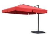 Sekey® Sonnenschirm 300 x 300 cm Aluminium-Sonnenschirm Marktschirm Gartenschirm Terrassenschirm Ampelschirm Kurbelschirm Terracotta Quadratisch Sonnenschutz UV50+ 23kg - 1