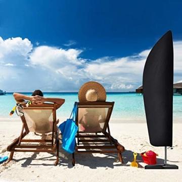 Senders Sonnenschirm Schutzhülle mit Stab, Ampelschirm Schutzhülle 2 bis 4 m Große Sonnenschirm Abdeckung 210D-Oxford-Gewebe Wasserdicht Staubdicht UV-Beständiges, 265x40/70/50 cm - 7