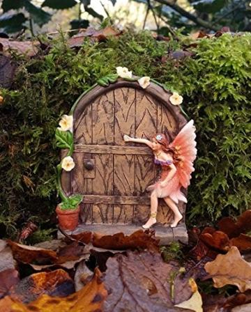 Set of 2 Sparkle Fairy Door Garden Home Ornament - 2