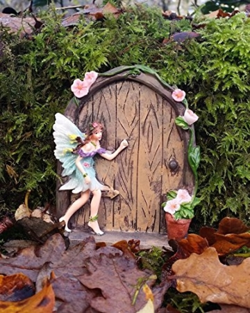Set of 2 Sparkle Fairy Door Garden Home Ornament - 4