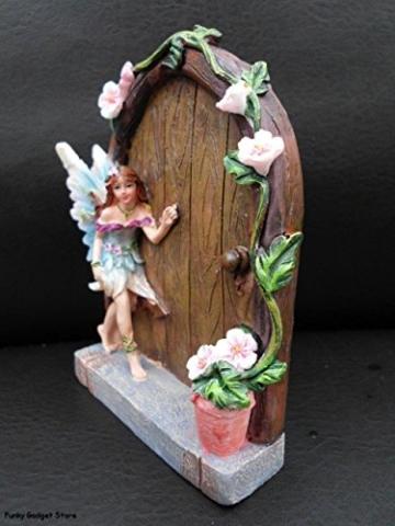 Set of 2 Sparkle Fairy Door Garden Home Ornament - 5