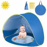 Shayson Pop Up Strandmuschel, Automatisches Strandzelt mit UV-Schutz 50+ für 1-2 Kinder, auch als Sonnenzelt oder EIN Sonnenschirm - 1