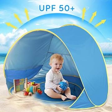 Shayson Strandmuschel,Automatisches Strandzelt mit UV-Schutz 50+,Pop up Outdoor Tragbar Wurfzelt für Kinder am Strand - 6