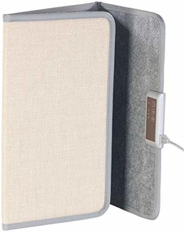 Sichler Haushaltsgeräte IR Panel: Faltbares Fern-Infrarot-Heizpanel, bis 65 °C, 165 Watt, Größe M (Infrarot Panel) - 3