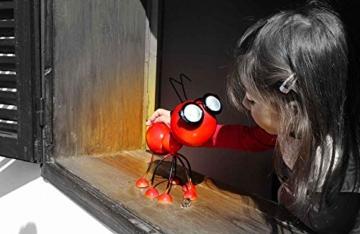 Smarty Gadgets Gartendeko Rote Ameise mit Solar LED Leuchten, Garten Geschenk, Tier Gartenfigur für draußen Hof und Balkon Dekoration, 28x25x14 cm - 3