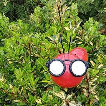 Smarty Gadgets Gartendeko Rote Ameise mit Solar LED Leuchten, Garten Geschenk, Tier Gartenfigur für draußen Hof und Balkon Dekoration, 28x25x14 cm - 6
