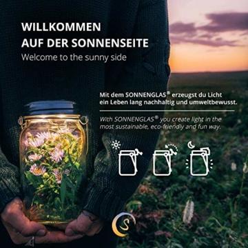 SONNENGLAS Classic 1000ml | Original Solarlampe/Solar-Laterne im Einmachglas aus Südafrika (inkl. USB) | warmweiß | Fair Trade | Bekannt aus Pro7 Galileo - 3