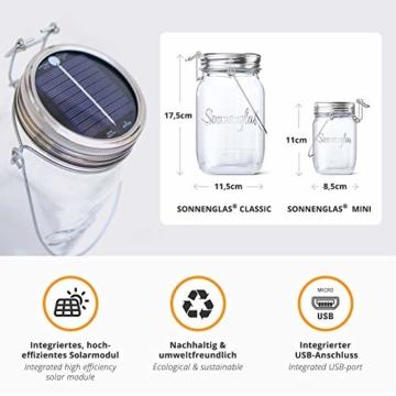 SONNENGLAS Classic 1000ml | Original Solarlampe/Solar-Laterne im Einmachglas aus Südafrika (inkl. USB) | warmweiß | Fair Trade | Bekannt aus Pro7 Galileo - 5