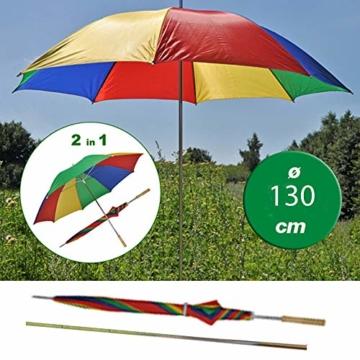 Sonnenschirm 130cm von JEMIDI Durchmesser Strand Schirm Strandschirm Sonnenschirm Sonnenschutz tragbar - 2