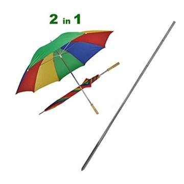 Sonnenschirm 130cm von JEMIDI Durchmesser Strand Schirm Strandschirm Sonnenschirm Sonnenschutz tragbar - 3