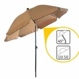 Sonnenschirm Balkon – Verwandelt kleine Balkone in schattige Oasen – Kleiner Sonnenschirm mit UV-Schutz, knickbar, höhenverstellbar - Ø 2 m, rund - 1
