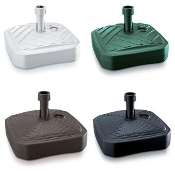 Sonnenschirmständer Schirmständer Ständer Schirmhalter Quadratisch Rattanoptik oder Board Design 12 L 4 Farben wählbar von rg-vertrieb (Board Quadrat Grün) - 1