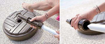 Sonnenschirmständer Schirmständer Ständer Schirmhalter Rund Rattanoptik oder Board Design 10 L 4 Farben wählbar von rg-vertrieb (Board Rund Dunkelgrün) - 3