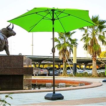 Sonnenschirmständer strandschirm Tragbare Abnehmbare Schirmständer Ständer Kunststoff Schirmständer, 38 mm Stangendurchmesser Garden Beach Schirmständer Sonnenschutz (schwarz), Außensonnenschirm Basis - 5