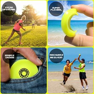 SPEEZER Mini Frisbee – die neon gelbe Wurfscheibe ist der Outdoor Fun Sport Spaß für alle – klein u. soft passt die smarte Flugscheibe in jede Hosentasche u. ist das Wurfspiel für Kinder o. Profis - 3