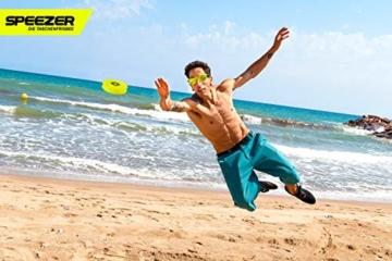 SPEEZER Mini Frisbee – die neon gelbe Wurfscheibe ist der Outdoor Fun Sport Spaß für alle – klein u. soft passt die smarte Flugscheibe in jede Hosentasche u. ist das Wurfspiel für Kinder o. Profis - 4