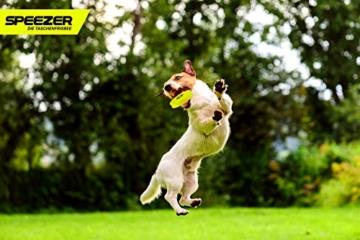 SPEEZER Mini Frisbee – die neon gelbe Wurfscheibe ist der Outdoor Fun Sport Spaß für alle – klein u. soft passt die smarte Flugscheibe in jede Hosentasche u. ist das Wurfspiel für Kinder o. Profis - 5