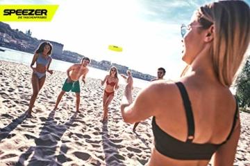 SPEEZER Mini Frisbee – die neon gelbe Wurfscheibe ist der Outdoor Fun Sport Spaß für alle – klein u. soft passt die smarte Flugscheibe in jede Hosentasche u. ist das Wurfspiel für Kinder o. Profis - 7