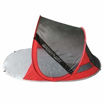 SportVida Strandmuschel Pop Up Wurfzelt Popup | Selbstaufbauend Strandzelt mit Tragegriff | Automatisch Portable | Sonnenschutz Windschutz 190x86x120cm (SV-WS0009) - 2