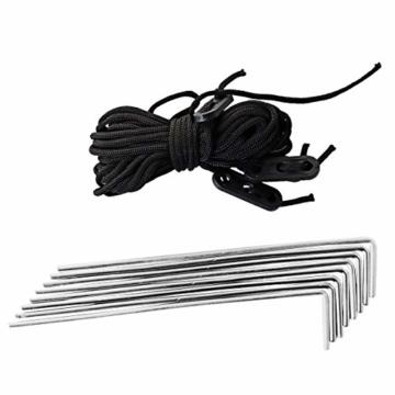 SportVida Strandmuschel Pop Up Wurfzelt Popup | Selbstaufbauend Strandzelt mit Tragegriff | Automatisch Portable | Sonnenschutz Windschutz 190x86x120cm (SV-WS0009) - 3