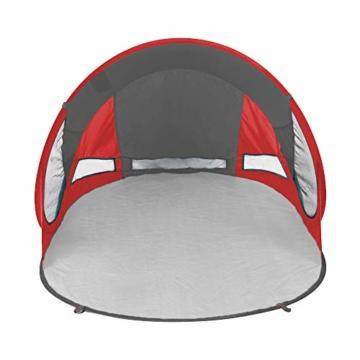 SportVida Strandmuschel Pop Up Wurfzelt Popup | Selbstaufbauend Strandzelt mit Tragegriff | Automatisch Portable | Sonnenschutz Windschutz 190x86x120cm (SV-WS0009) - 4