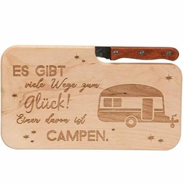 Spruchreif PREMIUM QUALITÄT 100% EMOTIONAL · Brotzeitbrett mit Messer · Brotzeitbrett mit Gravur · Holzbrett mit Messer · Geschenke für Camper · Outdoor Geschenke · Outdoor Frühstück - 1