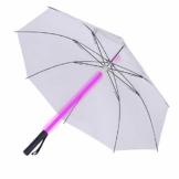 Stoff-LED-Lichtschwert, Regenschirm, Taschenlampe in den Griff für Golfschirme mit 7 Farben, Schwert zum Wechseln am Schaft, integrierte Taschenlampe unten - 1