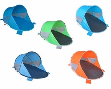 Strandmuschel Pop Up Strandzelt Dunkel- + Hellblau Polyester blitzschneller Aufbau Wetter- und Sichtschutz Duhome 5068 - 4