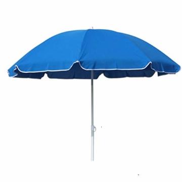 Strandschirm 160cm knickbar Polyester blau, grün oder rot Sonnenschirm Schirm, Farbe:blau - 1