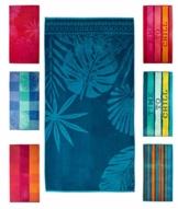 Strandtuch, Strandtücher 90x180 cm Baumwolle Frottee Velours Badetuch, Badetücher Blatt Blau - 1