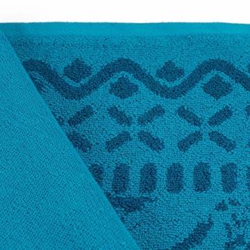 Strandtuch, Strandtücher 90x180 cm Baumwolle Frottee Velours Badetuch, Badetücher Blatt Blau - 6