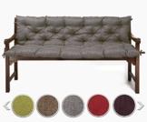 sunnypillow Bankauflage Stuhlkissen Bankkissen 140 x 50 x 50 cm Sitzkissen und Rückenkissen für Hollywoodschaukel Polsterauflage Auflage für Gartenbank viele Farben und Größen zur Auswahl Grau - 1