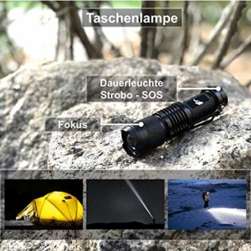 Survival Kit Vergleichssieger 2020* mit 2 eBooks - über 7.000 zufriedene Kunden - Dein perfektes Set fürs Campen oder Wandern mit Klappmesser, Paracord Armband, Taschenlampe und weiterem Zubehör - 3