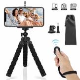 SYOSIN Handy Stativ, Flexibel Smartphone Stativ mit Bluetooth Fernsteuerung Shutter, Mini Reise Stativ Kamera-Stativ Ständer Halter für Kamera, Gopro, iPhone Sumsung und andere Android-Smartphone - 1