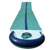 TEAM MAGNUS Wasserrutsche XXL (950x160cm) - Slip und Slide aus strapazierfähigem 0.22mm PVC - 1