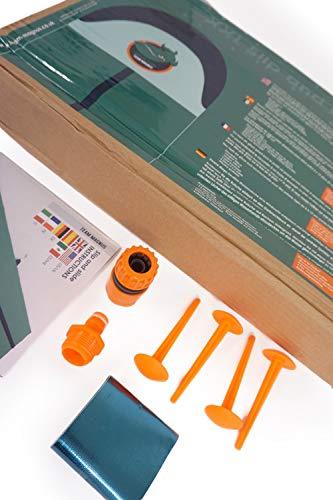 TEAM MAGNUS Wasserrutsche XXL (950x160cm) - Slip und Slide aus strapazierfähigem 0.22mm PVC - 3
