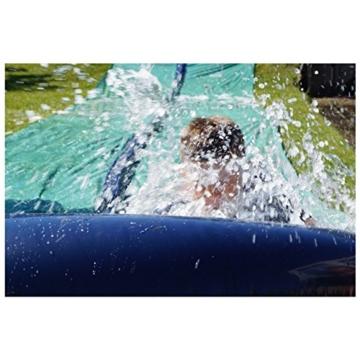 TEAM MAGNUS Wasserrutsche XXL (950x160cm) - Slip und Slide aus strapazierfähigem 0.22mm PVC - 4