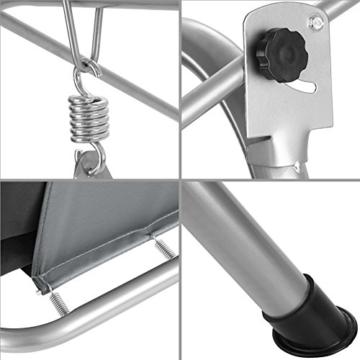 TecTake 3 Sitzer Hollywoodschaukel Gartenschaukel mit Sonnendach, witterungsbeständig, stabiles Stahlrohrgestell - Diverse Farben - (Grau | Nr. 402576) - 3