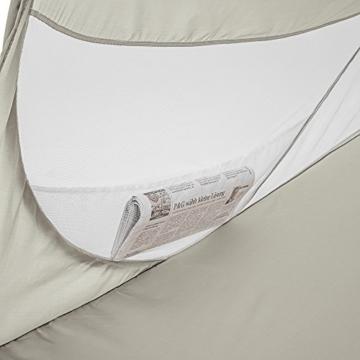 TecTake Pop Up Strandmuschel Wurfzelt 245x145x95 cm mit UV Schutz - Diverse Farben - (Grau | Nr. 401677) - 2
