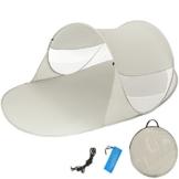 TecTake Pop Up Strandmuschel Wurfzelt 245x145x95 cm mit UV Schutz - Diverse Farben - (Grau | Nr. 401677) - 1