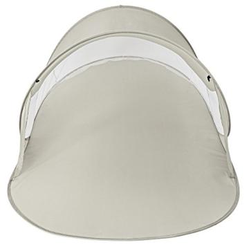 TecTake Pop Up Strandmuschel Wurfzelt 245x145x95 cm mit UV Schutz - Diverse Farben - (Grau | Nr. 401677) - 3