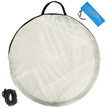 TecTake Pop Up Strandmuschel Wurfzelt 245x145x95 cm mit UV Schutz - Diverse Farben - (Grau | Nr. 401677) - 4