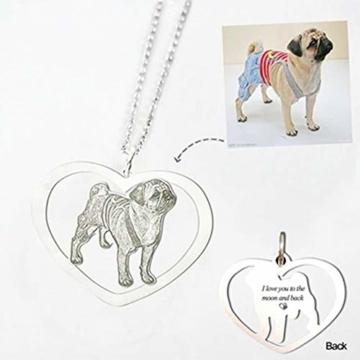 TheBigThumb Kreative Foto Halskette personalisierte benutzerdefinierte Anhänger in Sterling Silber Gutes Geschenk für Familie, Freunde und Haustiere Memorial Geschenk - 2