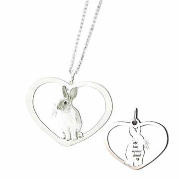 TheBigThumb Kreative Foto Halskette personalisierte benutzerdefinierte Anhänger in Sterling Silber Gutes Geschenk für Familie, Freunde und Haustiere Memorial Geschenk - 1