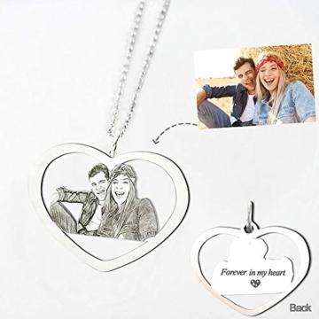 TheBigThumb Kreative Foto Halskette personalisierte benutzerdefinierte Anhänger in Sterling Silber Gutes Geschenk für Familie, Freunde und Haustiere Memorial Geschenk - 5