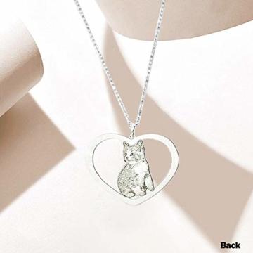 TheBigThumb Kreative Foto Halskette personalisierte benutzerdefinierte Anhänger in Sterling Silber Gutes Geschenk für Familie, Freunde und Haustiere Memorial Geschenk - 6
