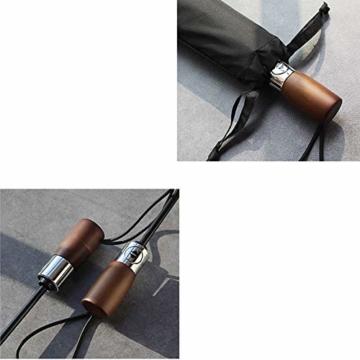 TMXWHYQ Regenschirme, automatisch klappbare Doppel-Sonnenschirme mit zehn Knochen, mit Regen- und windabweisendem UV-Schutz Robuster tragbarer Regenschirm, Holzgriff, für Männer,A - 5