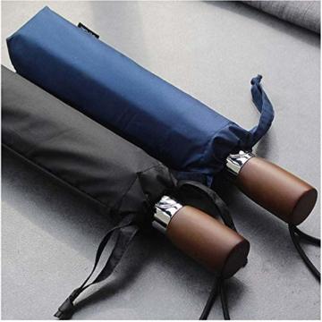 TMXWHYQ Regenschirme, automatisch klappbare Doppel-Sonnenschirme mit zehn Knochen, mit Regen- und windabweisendem UV-Schutz Robuster tragbarer Regenschirm, Holzgriff, für Männer,A - 7